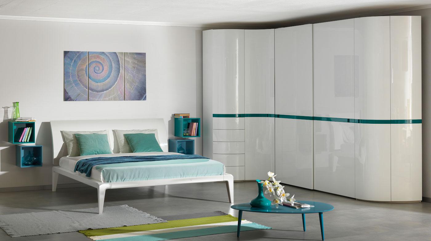 Белая глянцевая спальня sp004 - спальни в воронеже - сеть ме.